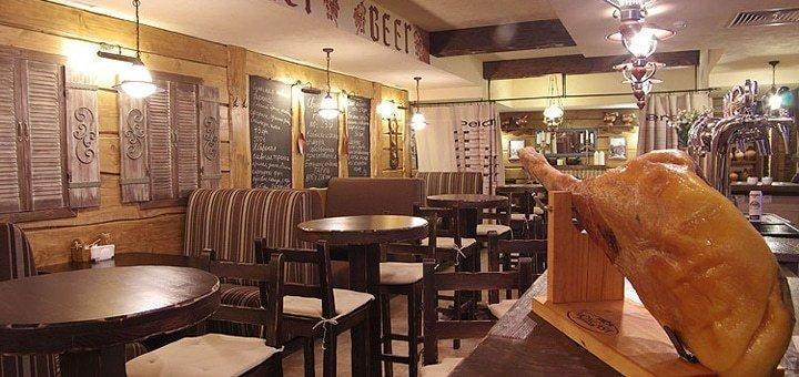 Скидка 35% на все меню кухни и бара в ресторации «Черный поросенок»