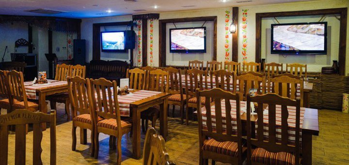 Скидка 20% на сумму чека в любой день недели в ресторане национальной кухни «Диканька»