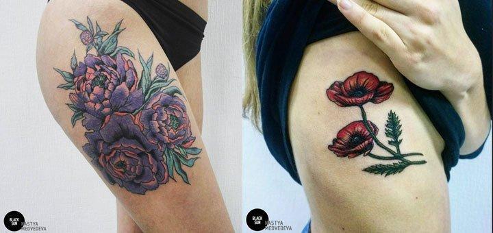 Скидка 30% на татуировки в студии «Black SunTattoo»