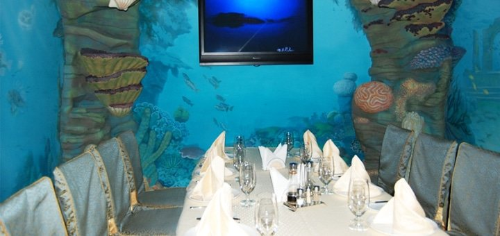 Скидка 25% на меню кухни и бара в самом морском ресторане «Посейдон»