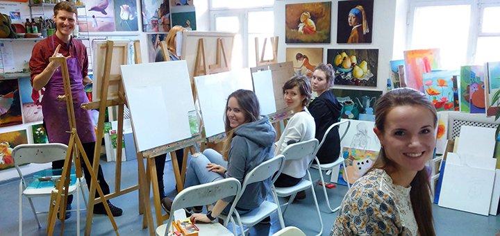 До 12 занятий живописью в студии «Love-Art»
