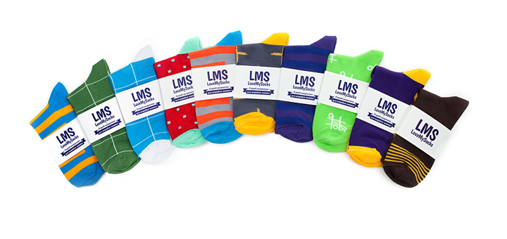 Скидка 15% на все наборы носков в магазине «LoveMySocks»