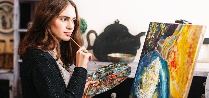 До 24 часов обучения по курсу масляной живописи в студии художественного творчества «7 чудес»