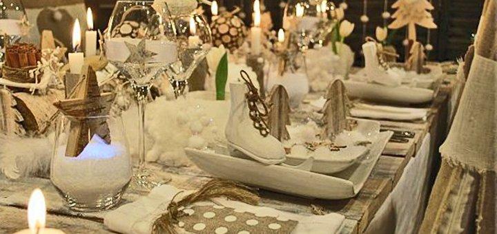 Новогодний корпоратив для компании до 10 человек в ресторане «Кухня на Богатирській»