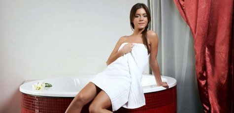 879169-bath-towel-brunettes-towels-women