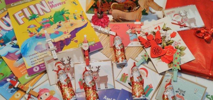 Посещение новогоднего игрового разговорного клуба в школе английского языка «Asei School Kiev»