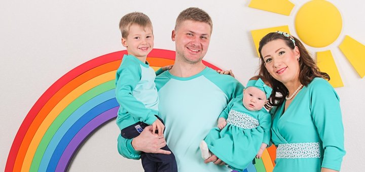 Фотосессия беременность, детская или семейная на выбор от фотостудии «Zavarka»