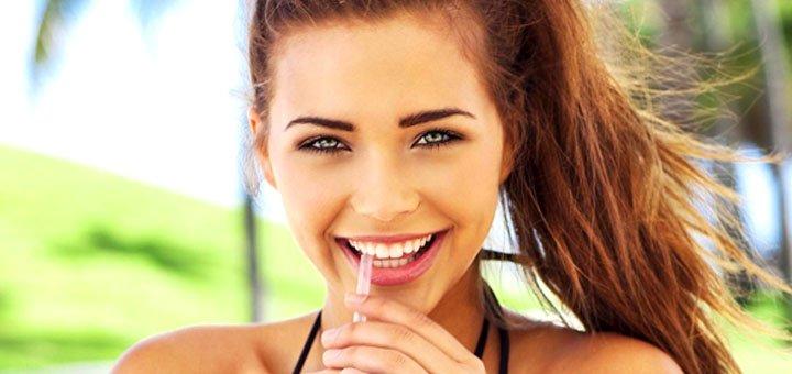 Ультразвуковая чистка зубов, шлифовка, снятие зубного налета в клинике «Мега Стом»