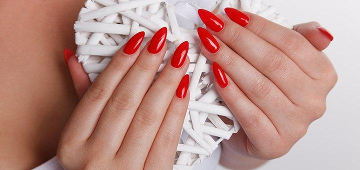 Скидка 30% на гелевое или акриловое наращивание ногтей в салоне красоты «Mariart»