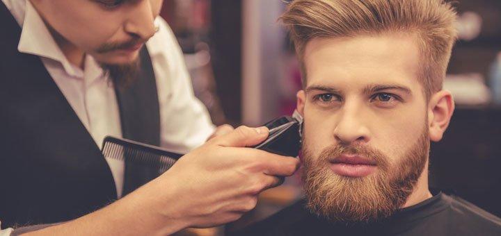 Мужская стрижка и укладка в салоне красоты «Polianna»