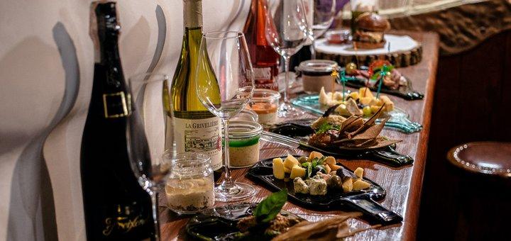 Ужин с дегустацией вина в уютном ресторане «Dr.Winestein»
