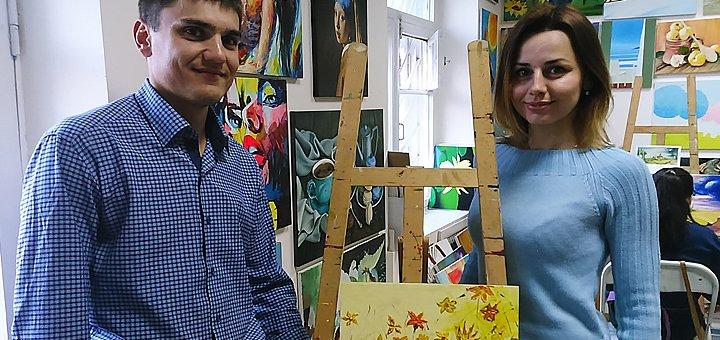 До 16 часов занятий живописью в студии «LOVE-ART»