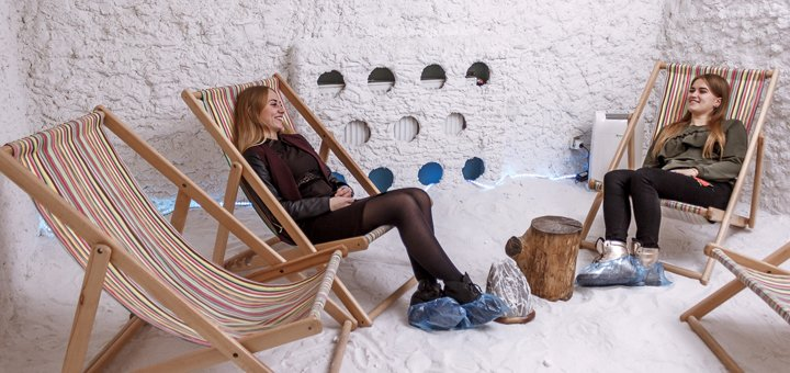 Посещение соляной комнаты в экспресс-фитнес «Сафари»