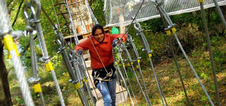 Комплекс развлечений для детей или взрослых в веревочном парке «S-Park»