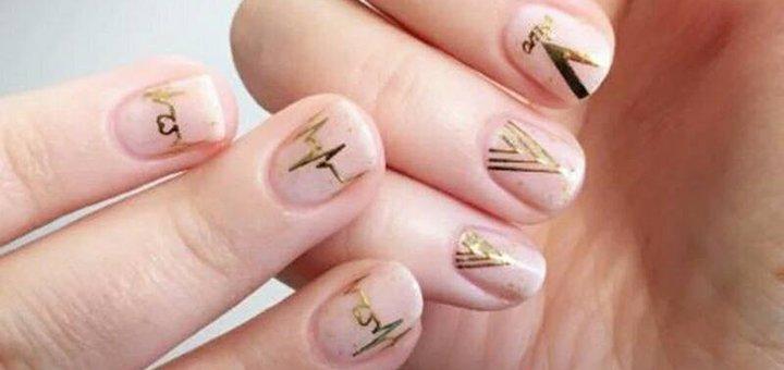 Маникюр с покрытием гель-лак от косметолога Алены Рай