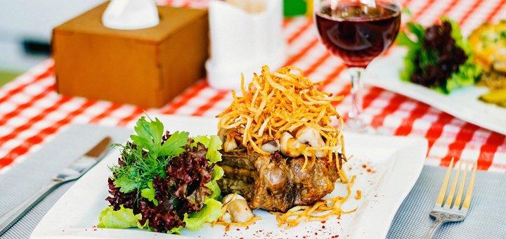 Скидка 50% на все меню кухни в ресторане «Закарпатская Колыба»
