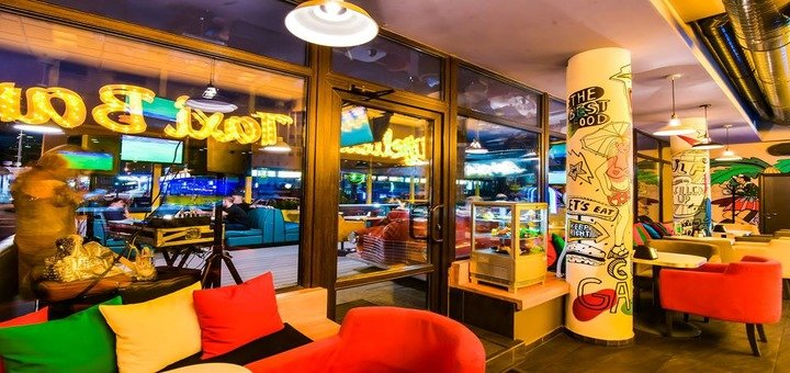 Скидка 50% на все меню кухни в ресторане «Yellow Taxi Bar»