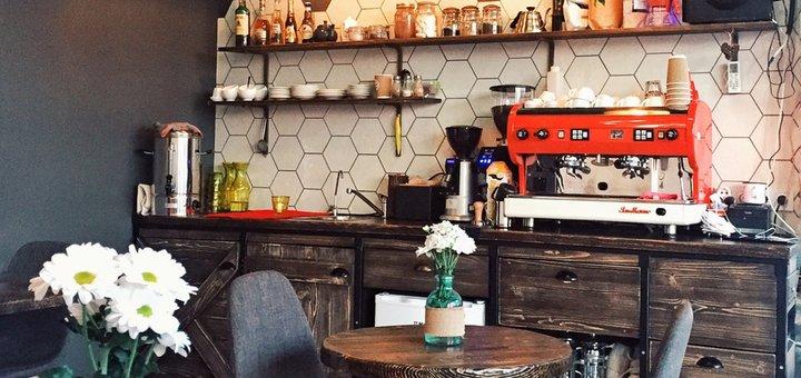 Скидка 50% на кофейную карту и 20% на алкоголь, выпечку в кафе «Nezabarom»