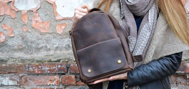 Скидка 15% на кожаные рюкзаки «OvalPack» ручной работы