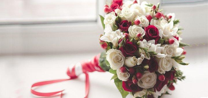 Скидка 30% на свадебный букет невесты, флористику зала и декор от «Fruits&Flowers Market»