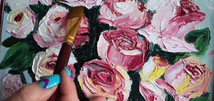 До 16 уроков по масляной, акварельной или пастельной живописи студии «Безмежність»