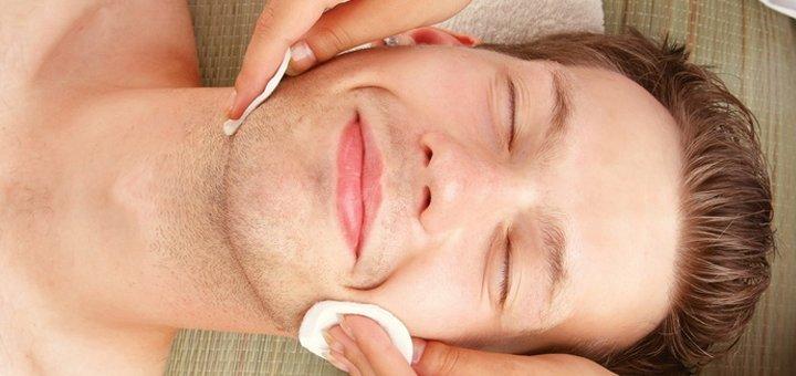 До 3 сеансов комплексной чистки лица для мужчин в косметологической студии «E-Studio»