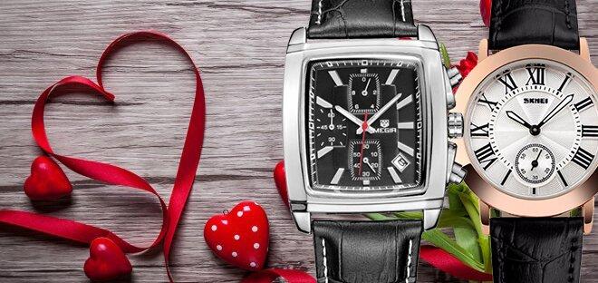 Скидки до 50% на наручные часы ко дню влюбленных!