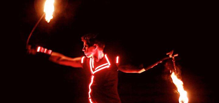 До 12 занятий обучения фаер шоу в школе театра огня «Ortus show»