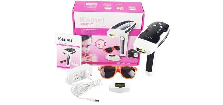 Фотоэпилятор «KEMEI» со скидкой 20% + нервущиеся колготки в подарок