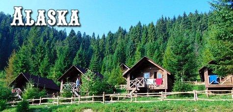 До 8 дней отдыха в домиках усадьбы «Аляска» -57%!