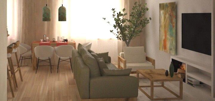 Скидка до 76% на индивидуальный дизайн-проект жилого помещения от студии «Art House Studio»