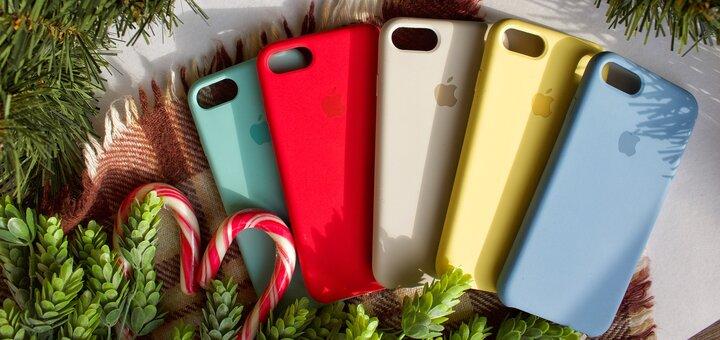 Комплект чехол на айфон + защитное 5D стекло по суперцене!