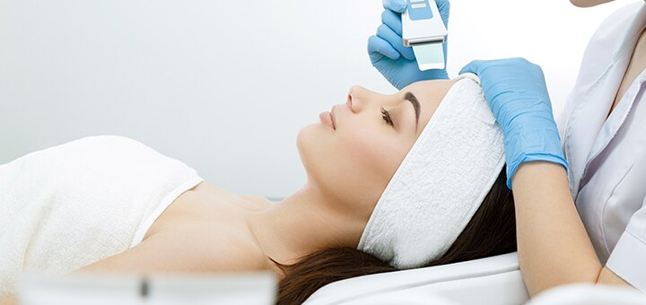 Ультразвуковая чистка лица в салоне аппаратной косметологии «Vual' cosmetology»