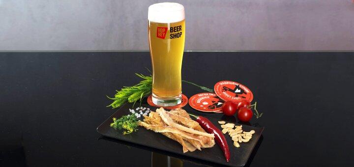 Скидка 40% на разливное пиво в сети биршопов «Hop Hey»