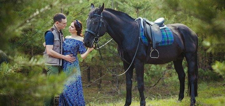 Скидка до 55% на уроки верховой езды и прогулки по лесу на лошадях в клубе «Серебряная подкова»