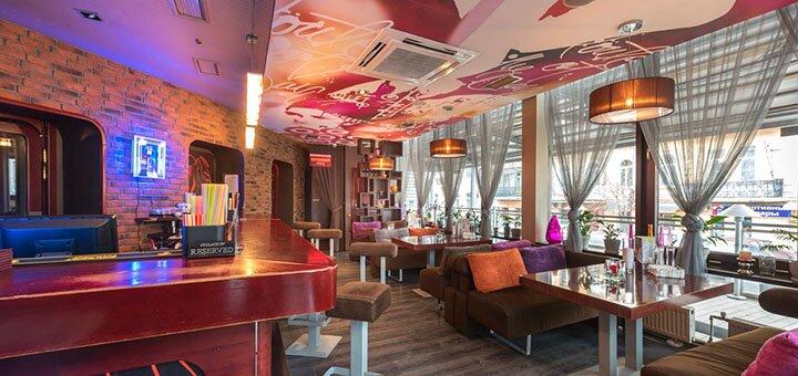 Скидка до 50% на новое меню кухни и алкогольные напитки или коктейли в лаунж-кафе «Palladium»