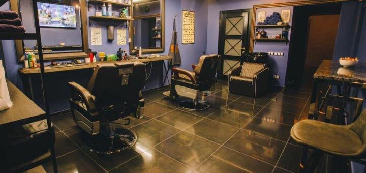Мужская стрижка, стрижка бороды и кальян в «Barbershop Friends»
