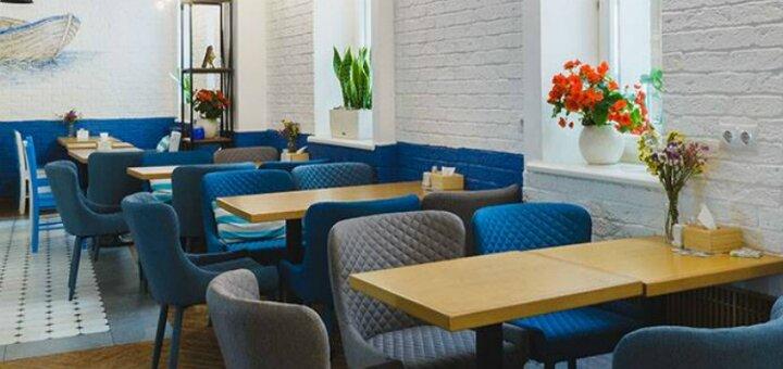 Десерты, чай и кофе в рыбном ресторане «Причал 14»