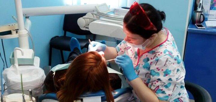 Лечение кариеса с установкой фотополимерных пломб в стоматологической клинике «Градия»