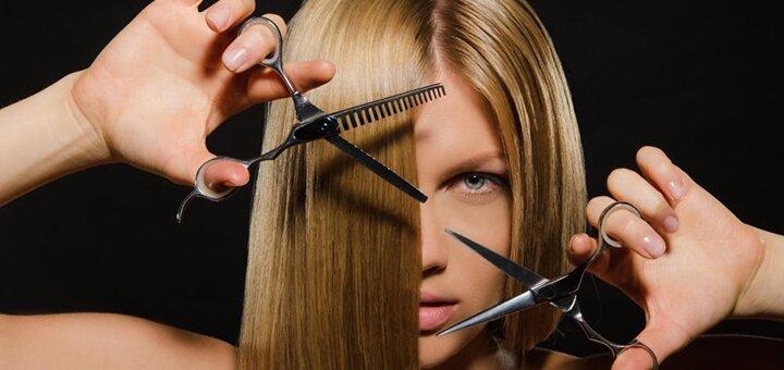 Женская стрижка с укладкой в парикмахерской «Pipitto»