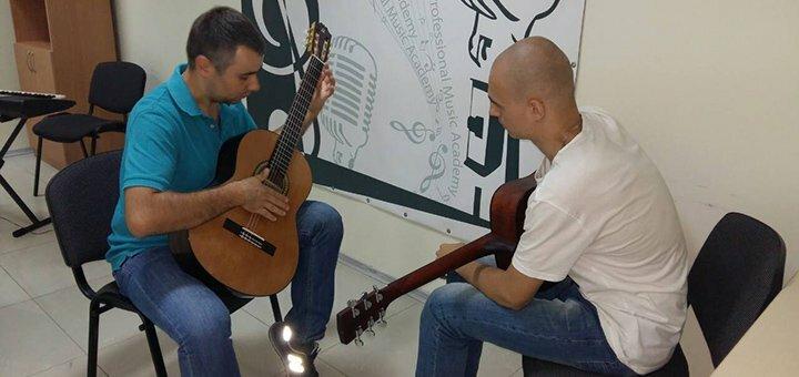 До 8 индивидуальных уроков игры на гитаре в музыкальной академии «Art Mus»